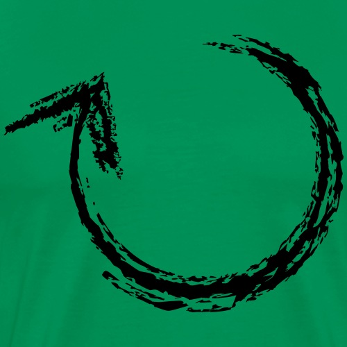 Wegzeichen umkehren - Kreide - Farbe wählbar - Männer Premium T-Shirt