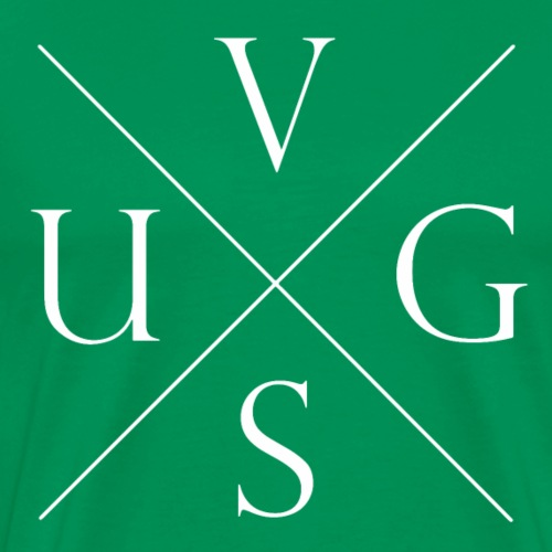 V.U.G.S. Cross Wit - Mannen Premium T-shirt