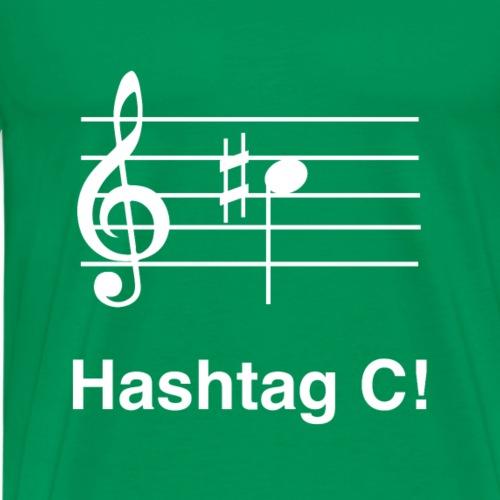 Hashtag Noten Musiker Musik Lustiges Geschenk - Männer Premium T-Shirt