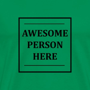 AWESOMEPERSONHERE - Premium T-skjorte for menn