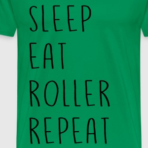 sleep_eat - Herre premium T-shirt