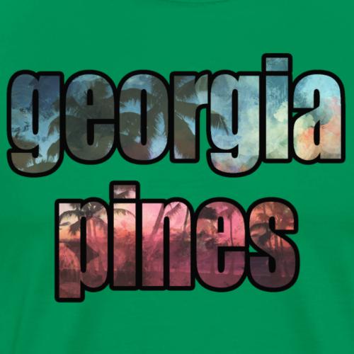 Georgia Pines Band Shirt Logo Schrift Palmen frei - Männer Premium T-Shirt