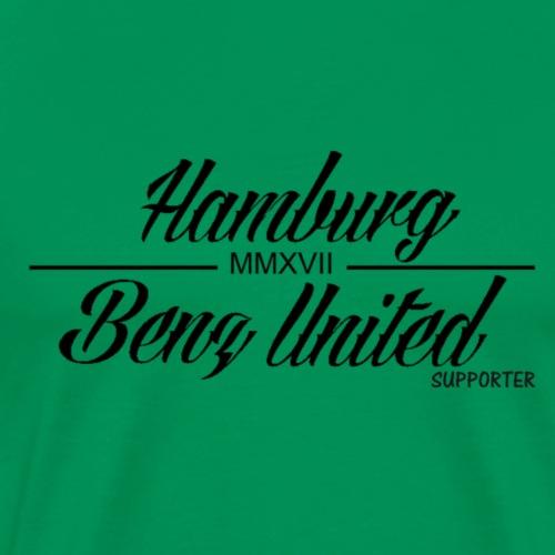 HamburgBenzUnited Supporter Schwarz - Männer Premium T-Shirt