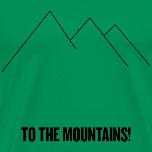 tothemountains_blck - Premium T-skjorte for menn