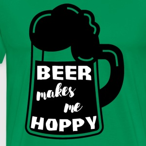 Bier - Beer makes me hoppy - Männer Premium T-Shirt
