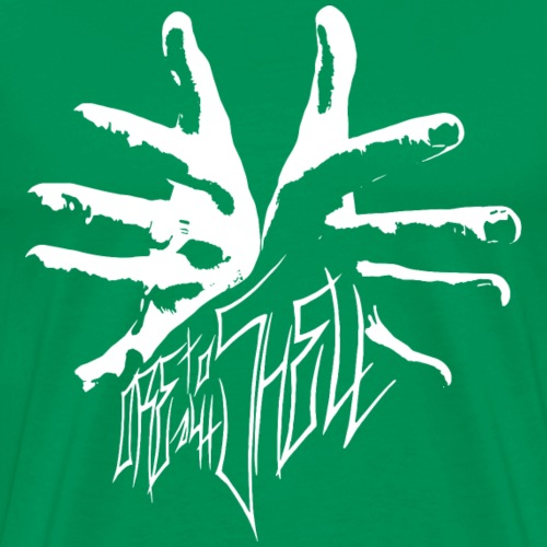 Moretotheshell - Logo und Schriftzug - weiß - Männer Premium T-Shirt