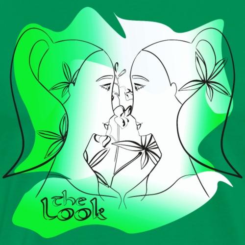 Cara 6 verde (serie The Look) - Camiseta premium hombre