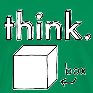 Think Outside The Box Illustration - Men's Premium T-Shirt