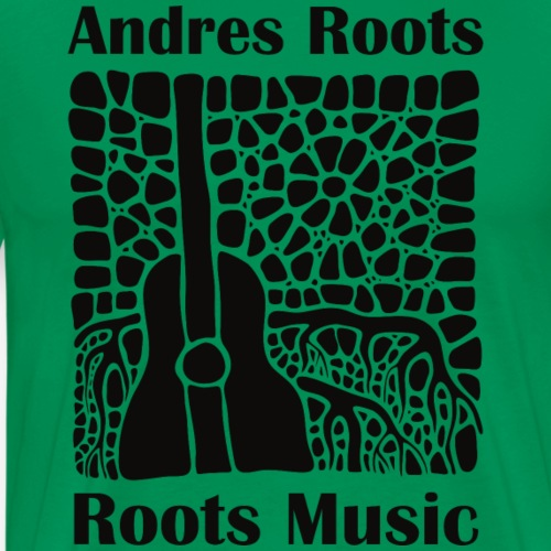 'Roots Music' album cover T-shirt, black print - Men's Premium T-Shirt