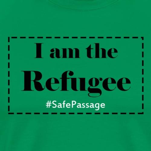 I am the Refugee-Eng - Premium T-skjorte for menn