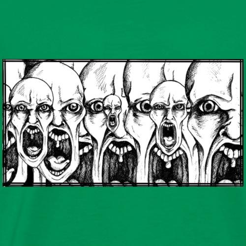 visages hurlants - T-shirt Premium Homme
