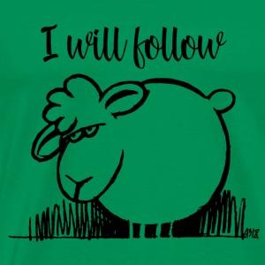 I Will Follow ZWART - Mannen Premium T-shirt