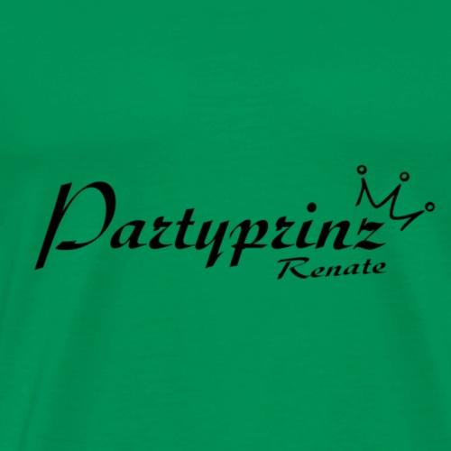 Logo Partyprinz schwarz - Männer Premium T-Shirt