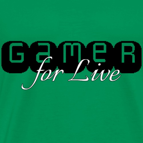 Gamer for Live - Männer Premium T-Shirt