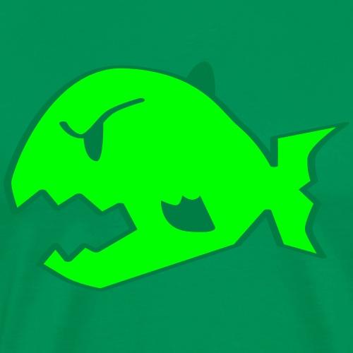 Piranha Logo - Männer Premium T-Shirt