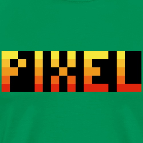 Pixel Schriftzug Gelb Rot Schwarz Geschenk - Männer Premium T-Shirt