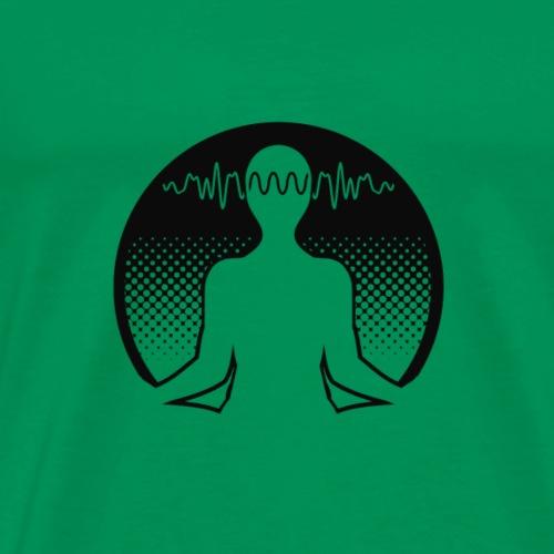Meditation (heller Hintergrund) - Männer Premium T-Shirt