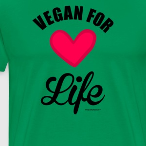 """Vegan for Life"" - Premium T-skjorte for menn"