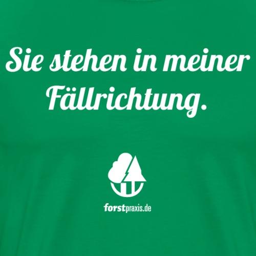forstpraxis Fällrichtung weiß - Männer Premium T-Shirt