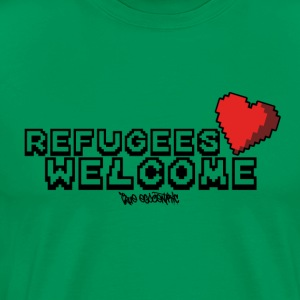 Refugees Welcome Pixel Design - Men's Premium T-Shirt