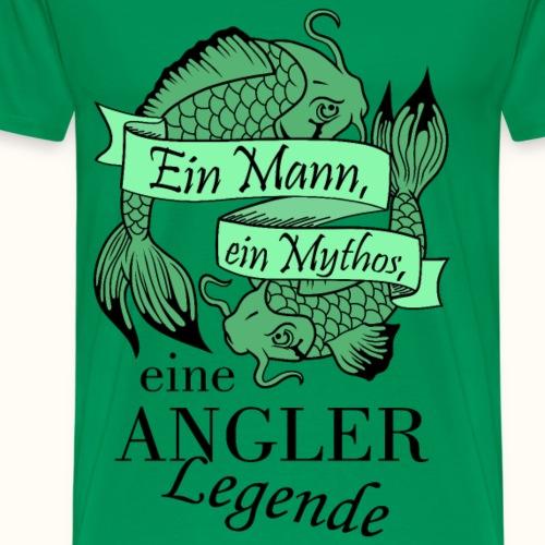 Der Angler - grün - Männer Premium T-Shirt