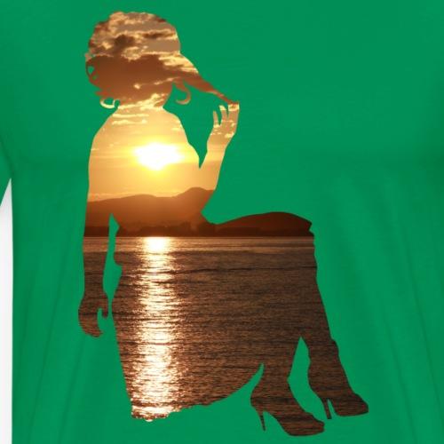 Frau Sonnenuntergang - Männer Premium T-Shirt