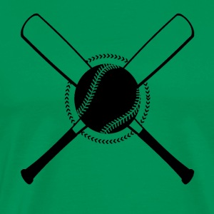 Baseball Crossed - Männer Premium T-Shirt