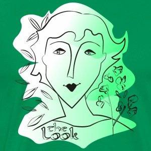 Face 9 green (The Look series) - Men's Premium T-Shirt