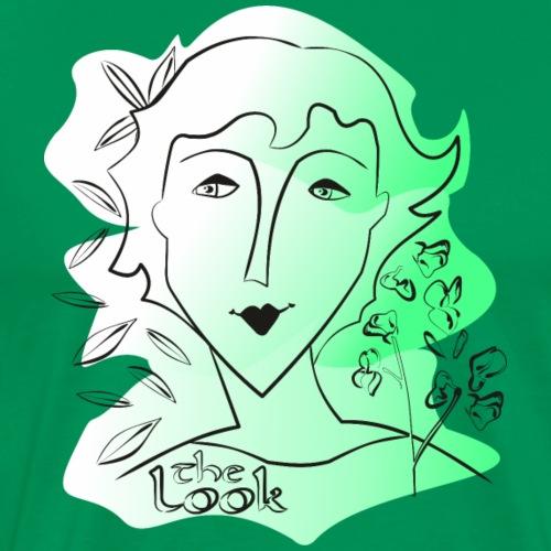 Cara 9 verde (serie The Look) - Camiseta premium hombre
