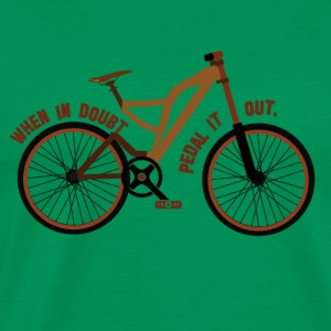 Pedal the Doubt out - Bicycle Passion! - Men's Premium T-Shirt