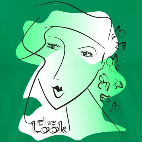 Cara 8 verde (serie The Look) - Camiseta premium hombre