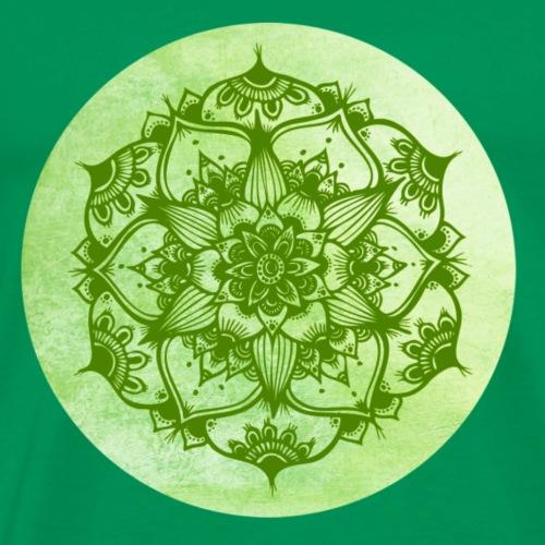 Mandalas Vert - T-shirt Premium Homme