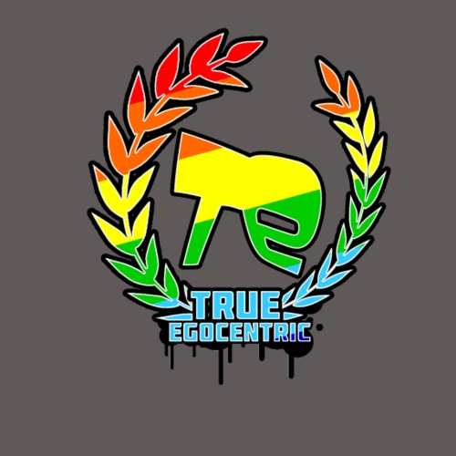 True Egocentric Logo Regenbogen - Männer Premium T-Shirt