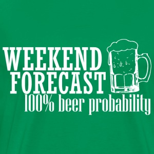 WEEKEND FORECAST 100% BEER white - Men's Premium T-Shirt