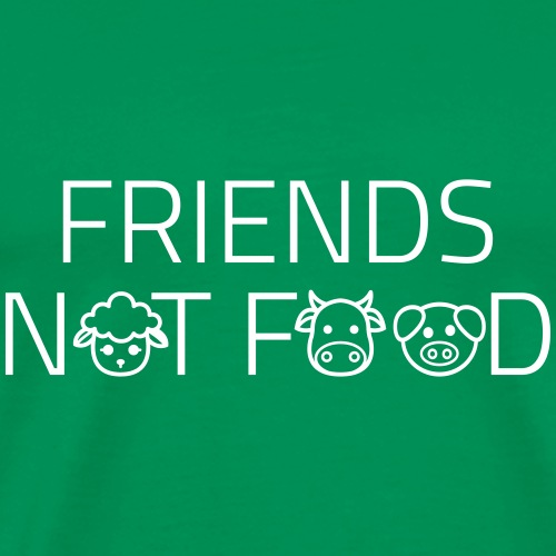 FriendsNotFood - Herre premium T-shirt