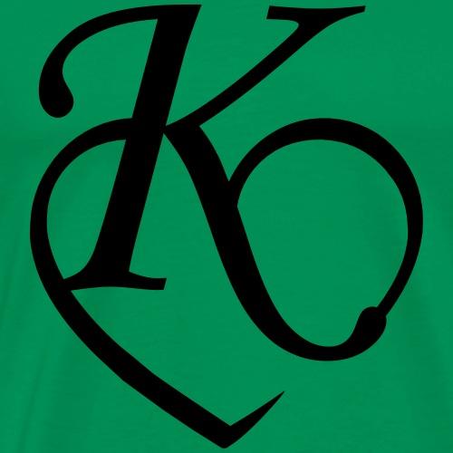 Herz Buchstabe K - Männer Premium T-Shirt