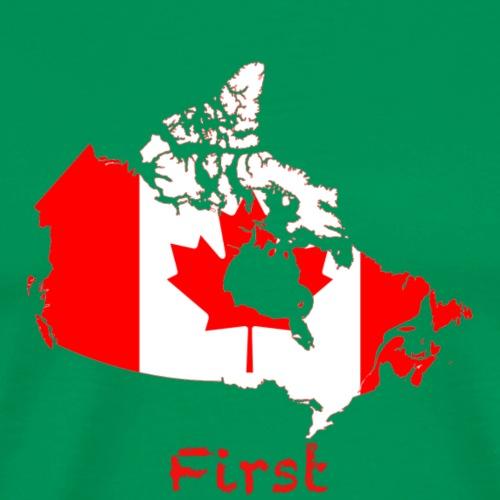 Canada First - Männer Premium T-Shirt