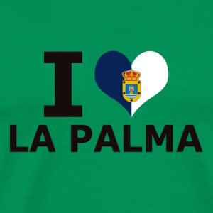 I LOVE LA PALMA FLAG - Men's Premium T-Shirt
