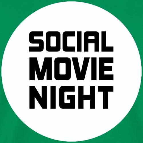 Social Movie Night - Logo Schwarz auf Weiß - Männer Premium T-Shirt