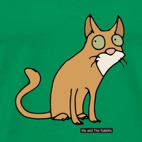 Katt - abessinier - Premium-T-shirt herr