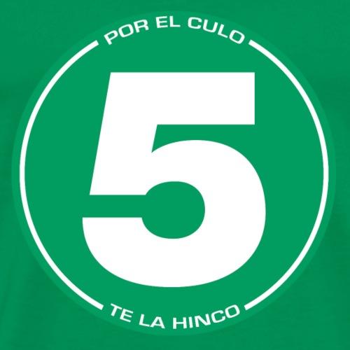 5 pectlh - verde sobre gris - Camiseta premium hombre