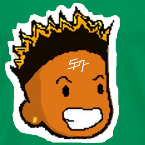 Yae Cheetah's Face with Samuel Boomer Logo - T-shirt Premium Homme