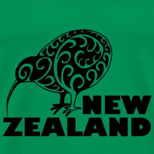 Neuseeland Kiwi mir Schriftzug Neuseeland, schwarz - Männer Premium T-Shirt