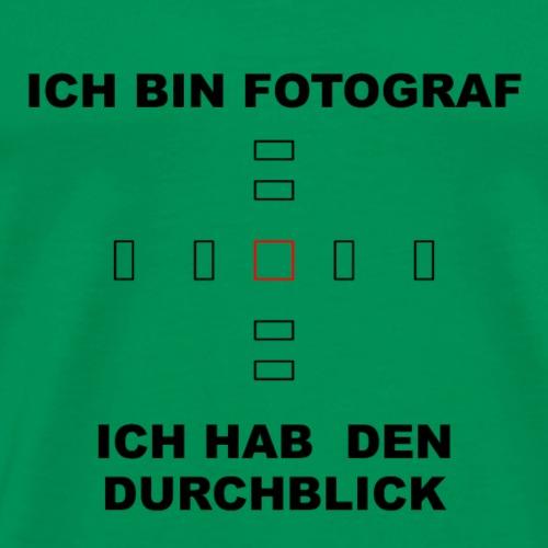 Durchblichk_black - Männer Premium T-Shirt