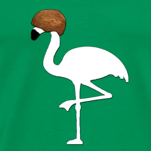 Coconut Flamingo - Männer Premium T-Shirt