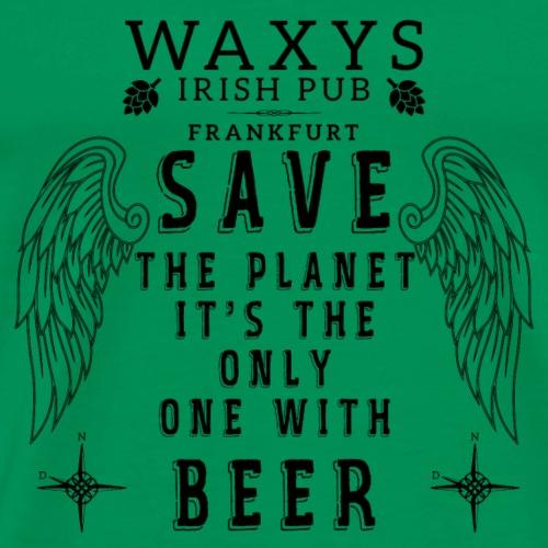 WAXYS HEROE LOGOS PLANET BEER 15 - Men's Premium T-Shirt