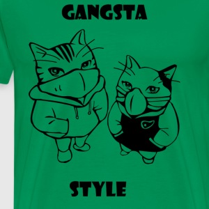Gangsta cats - Men's Premium T-Shirt
