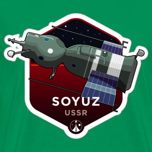 Space Race Series: SOYUZ (Large print) - Men's Premium T-Shirt