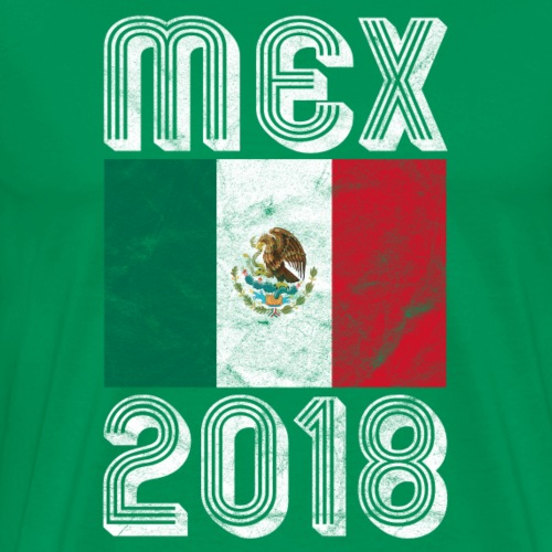 Mexico Fan T-Shirt MEX 2018 Fussball - Männer Premium T-Shirt