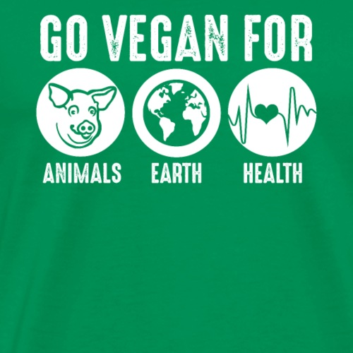 Go Vegan For Animals Earth and Health - Männer Premium T-Shirt